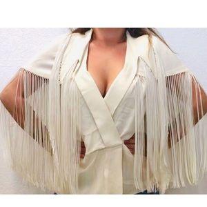 Marni Fringe  blouse jackets small to large
